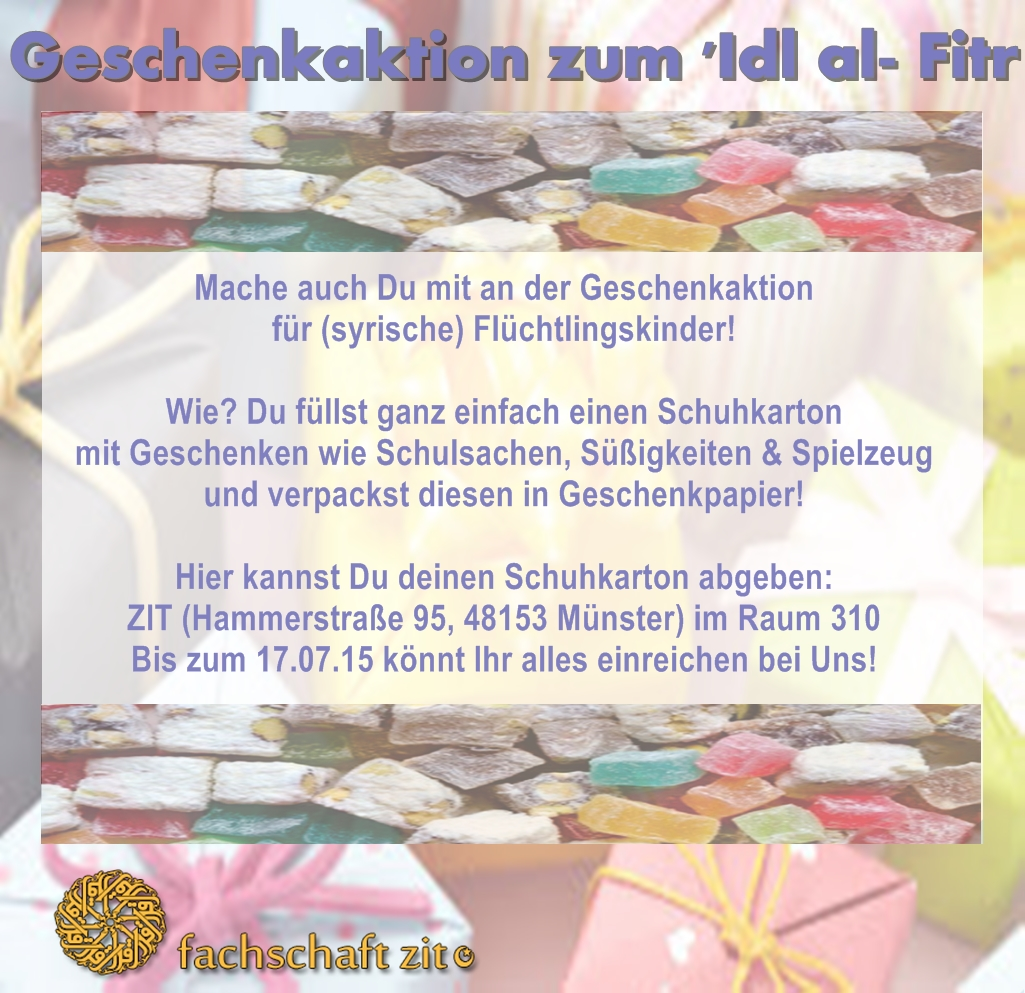 Flyer Schuhkarton Aktion